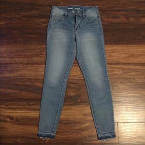 Raw Hem Skinny Jeans Size 0